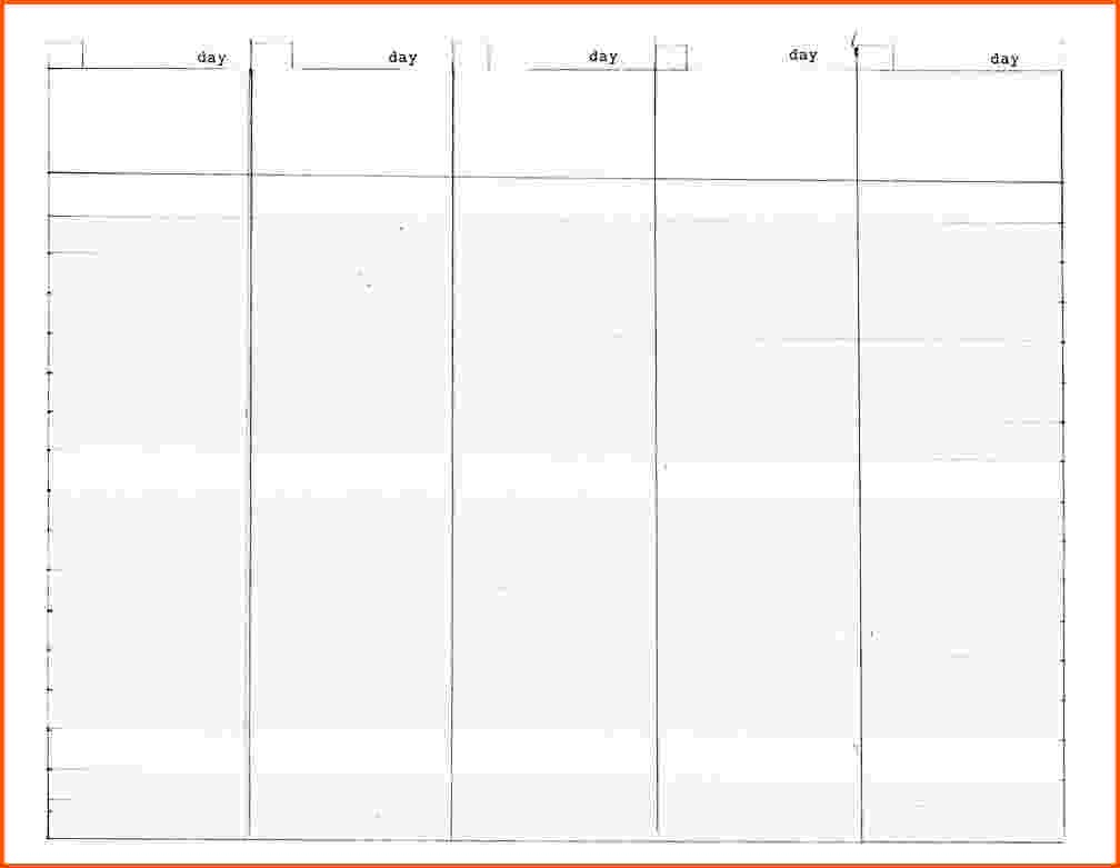 Schedule Template Day Ly Calendar Microsoft Word Excel On | Smorad pertaining to 5 Day Weekly Calendar Template
