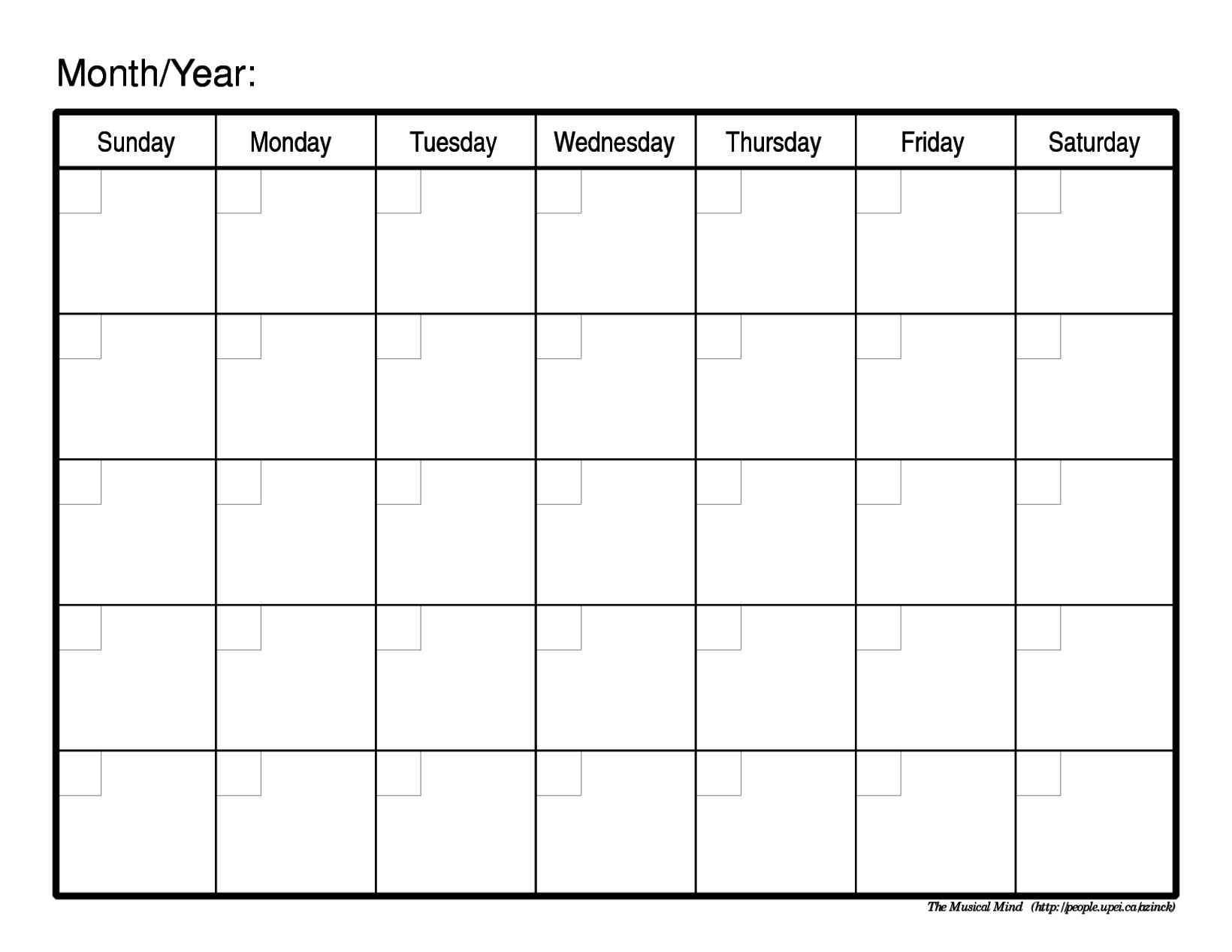 Schedule Template Free Printable Weekly Calendar Blank Monthly | Smorad in Full Size Blank Printable Calendar