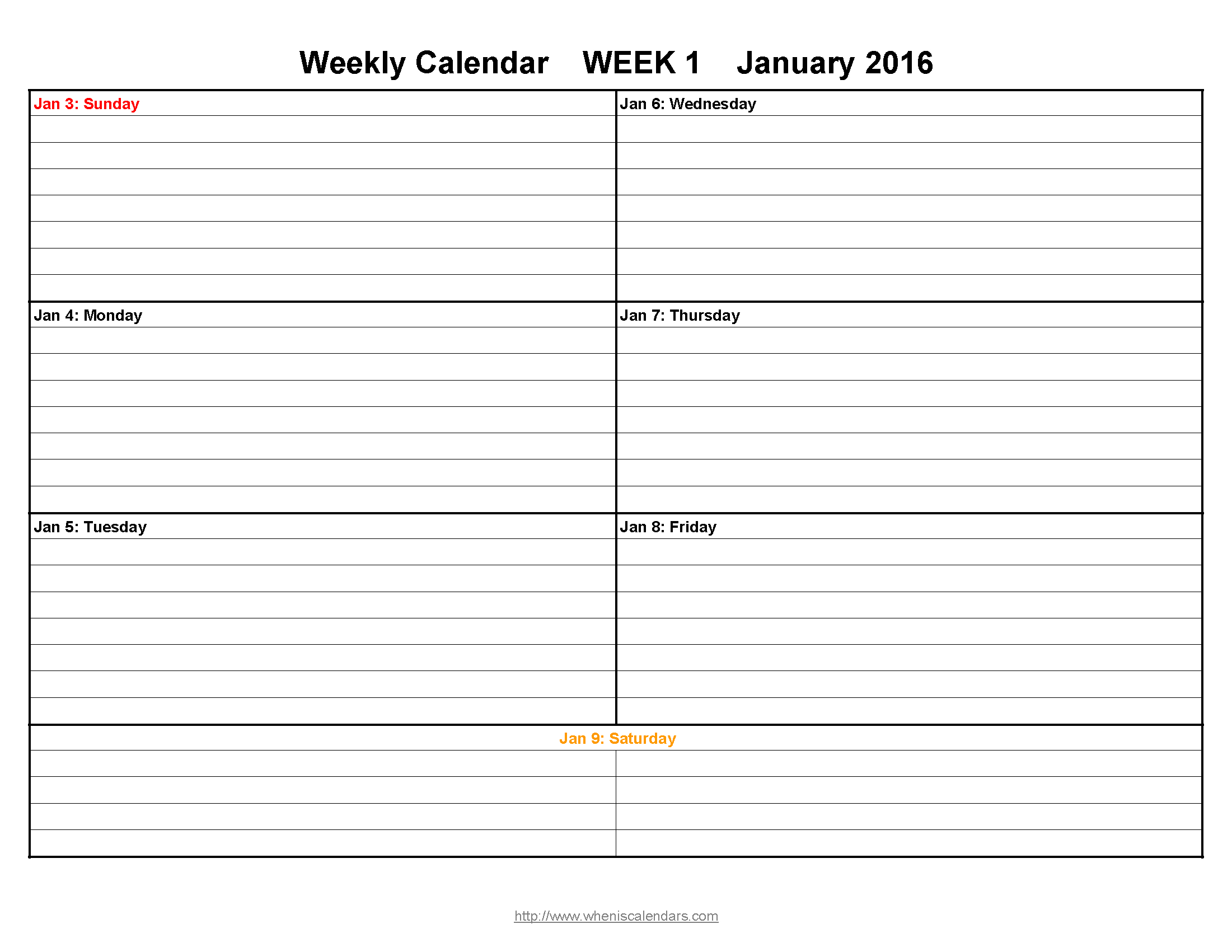 Schedule Template Printable Weekly Calendar December To February Two within Blank Lined Weekly Printable Calendar