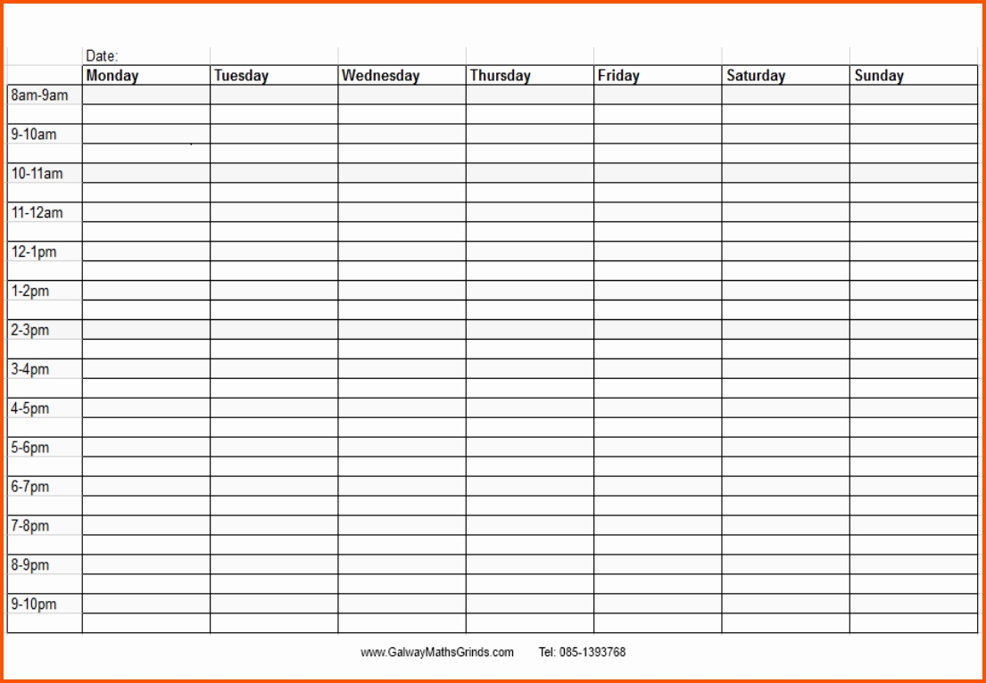 Schedule Template Printable Weekly With Times Blank Calendar World in Week Schedule Template With Times