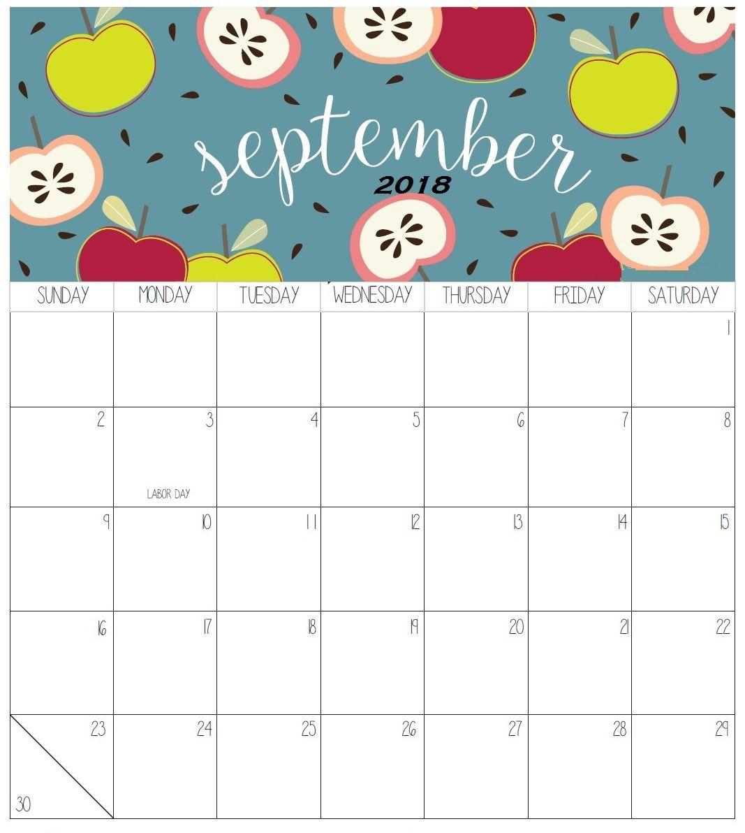 September 2018 Colorful Calendar For Desk | Calendar 2018 | 2018 inside September Calendar Printable Template Blank