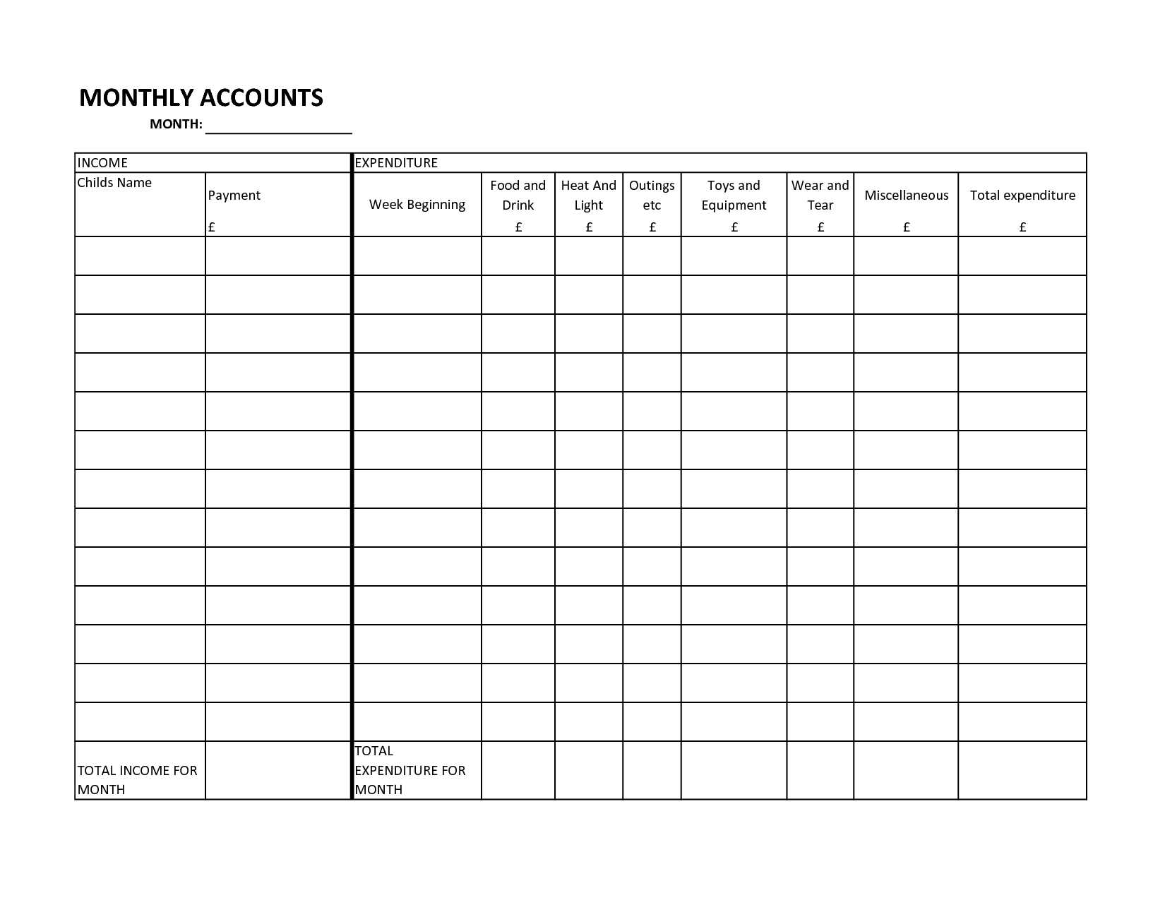Simple Bill And Payment Organizer Templates For Your Inspirations regarding Blank Printable Bill Payment Planner