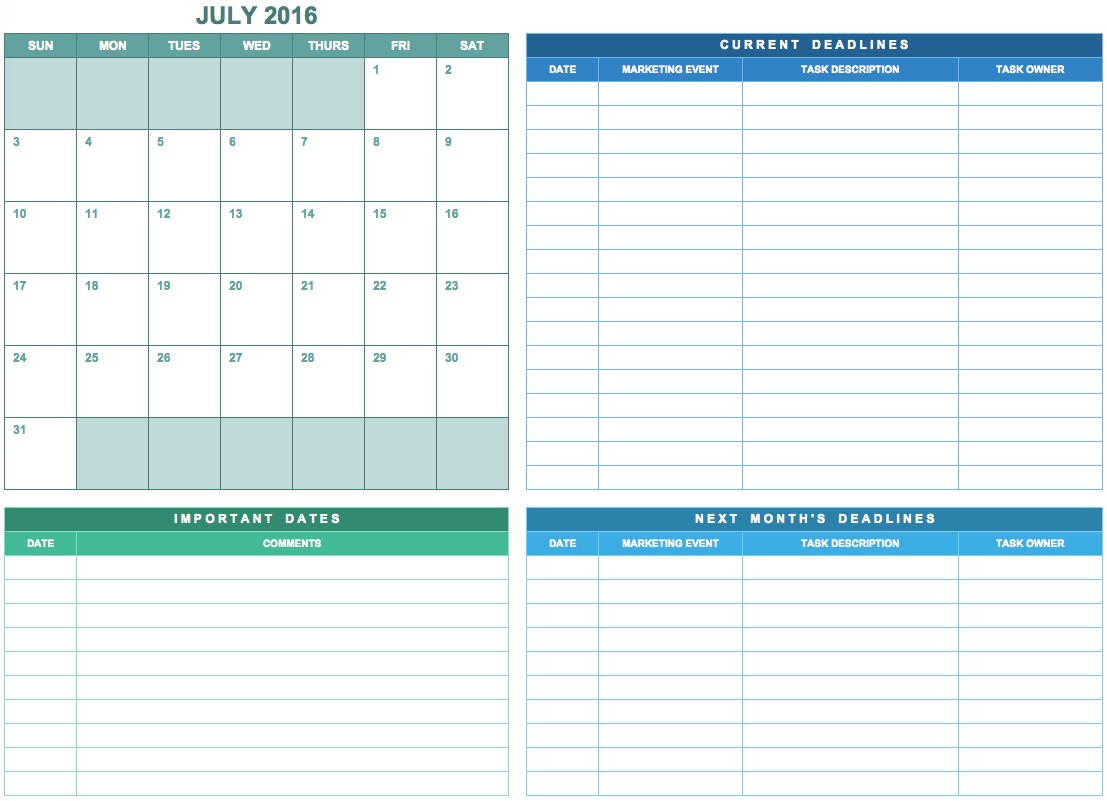 Simple Marketing Calendar At Event Calendar Template Free - Free in Calendar Of Events Template Free