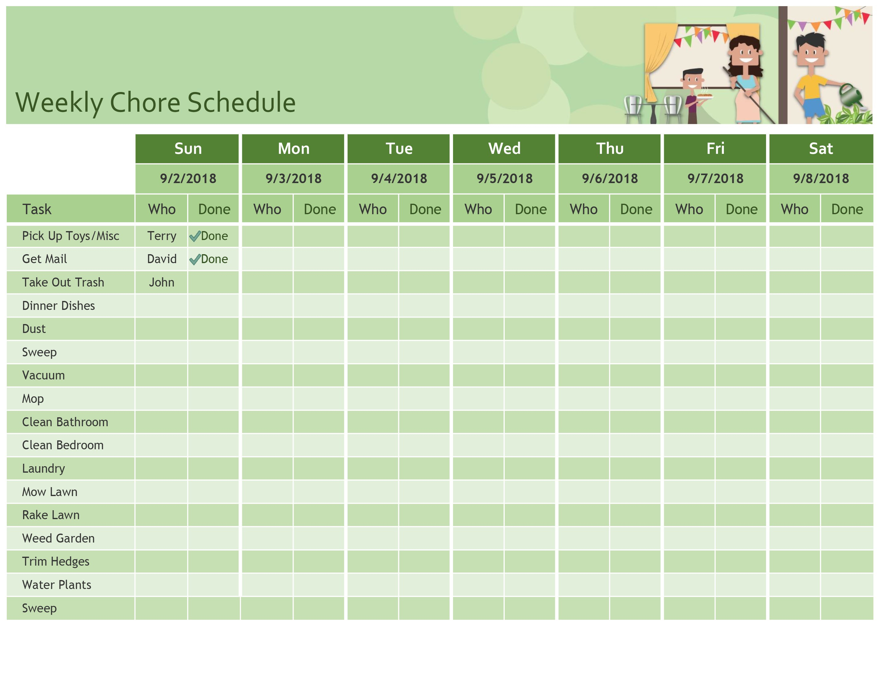Simple Meal Planner in Planning Calendar Template Excel