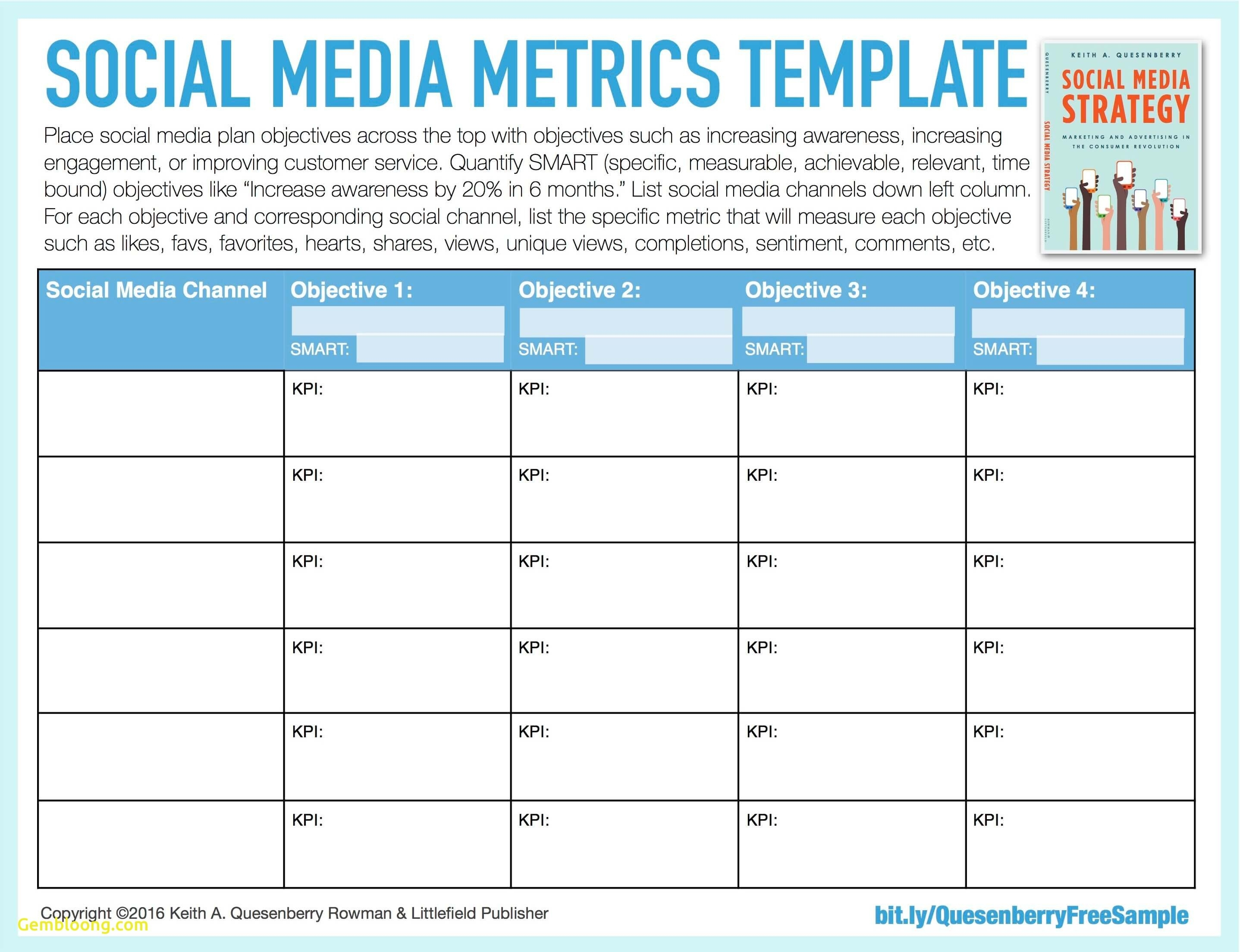 Social Media Strategy Template Develop Yourng Plan Marketing Free intended for Social Media Content Plan Excel Template Free