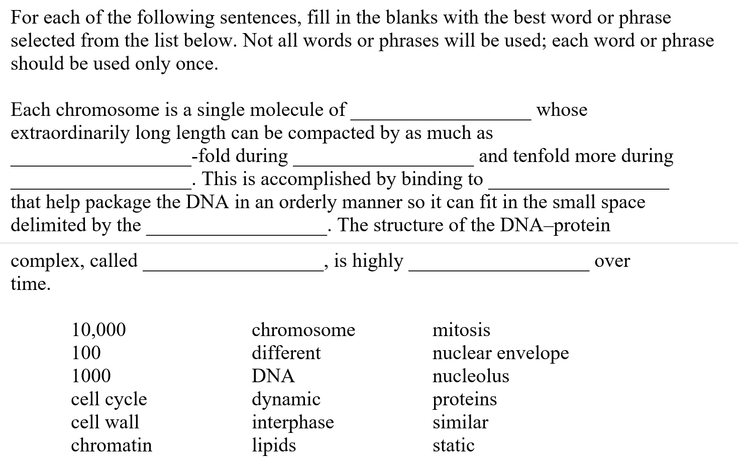 Solved: For Each Of The Following Sentences, Fill In The B regarding Fill In The Blank Long A