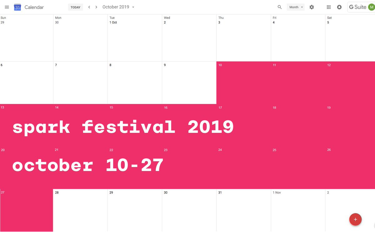 "Spark Festival A Twitter: ""get That Sharpie Out And Mark The throughout Community Calender Sydney October 2019"