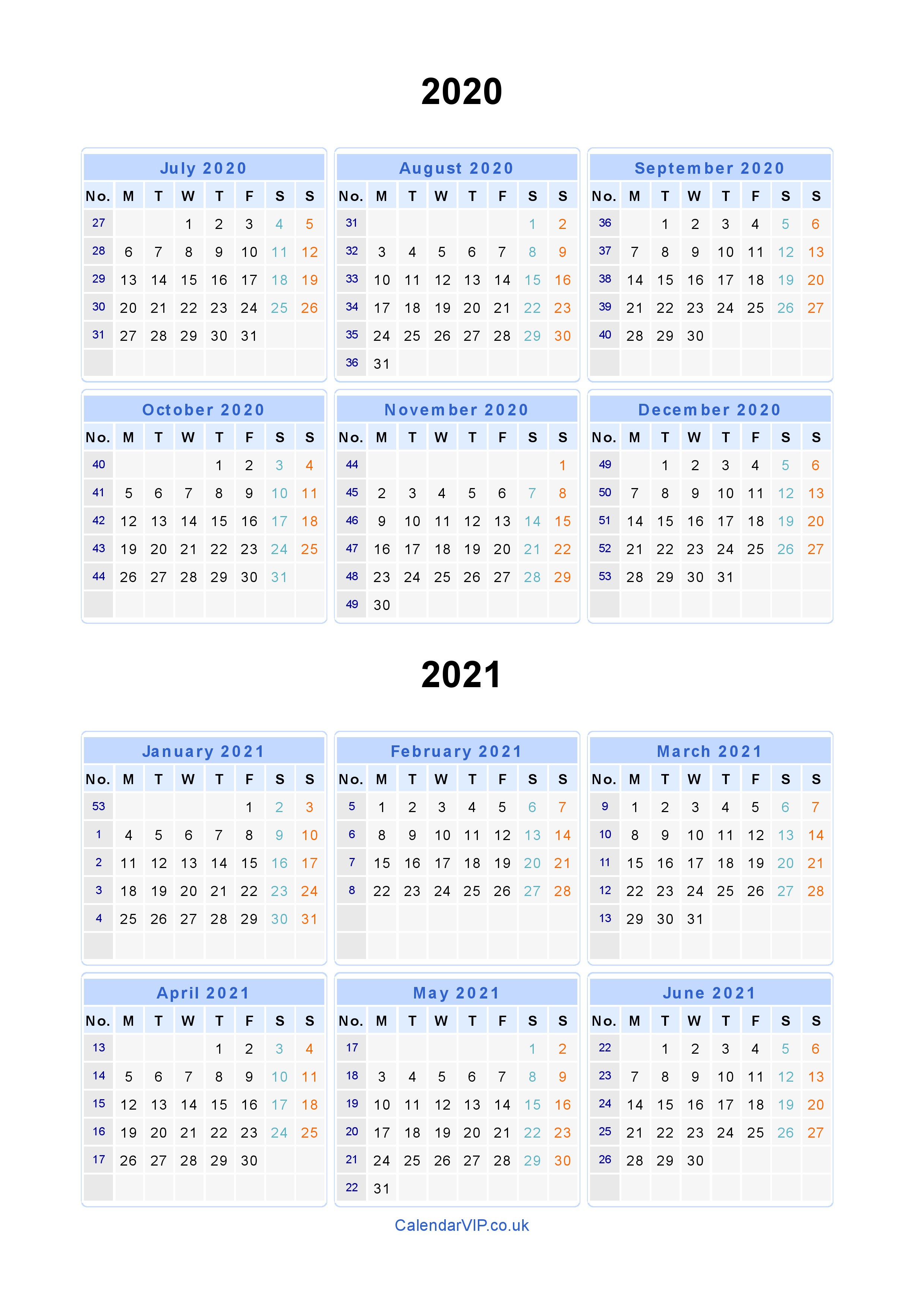 Split Year Calendars 2020 2021 - Calendar From July 2020 To June 2021 in Free Printed Calendars From June 2019 To June 2020