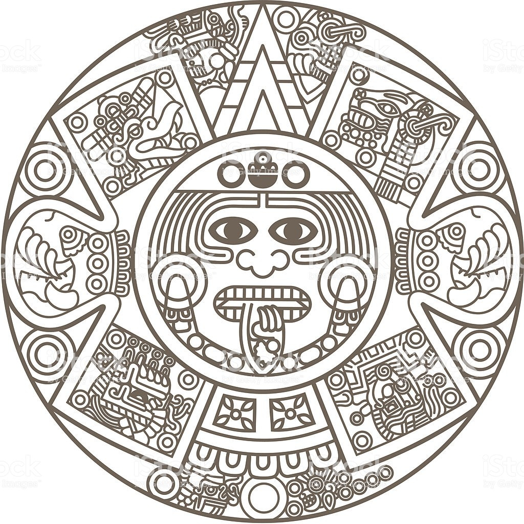 Stylized Aztec Calendar Illustration Id164453126 With How To Make An with Aztec Calendar Printable Template