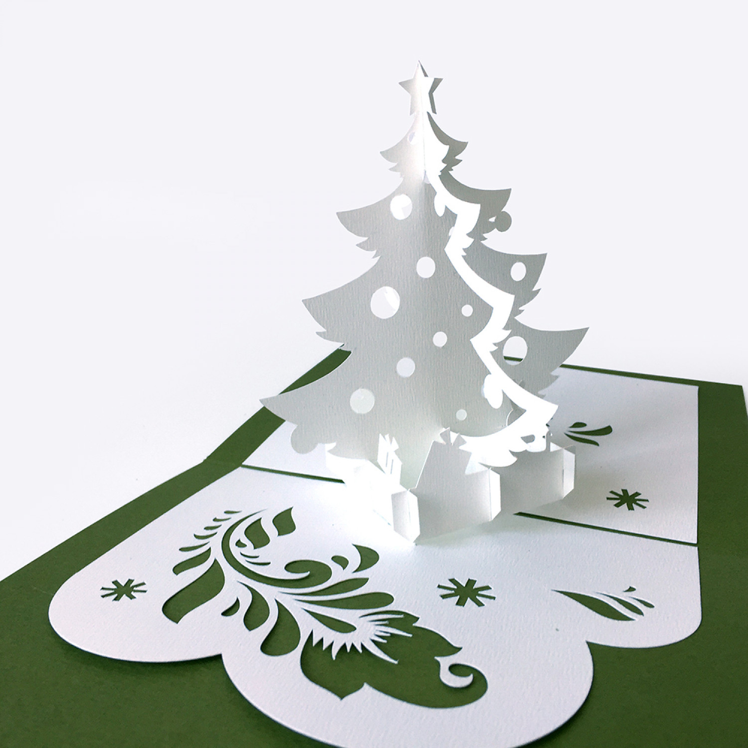 Template Pop-Up Card «Christmas Tree» for Printable Christmas Tree Templates 3D