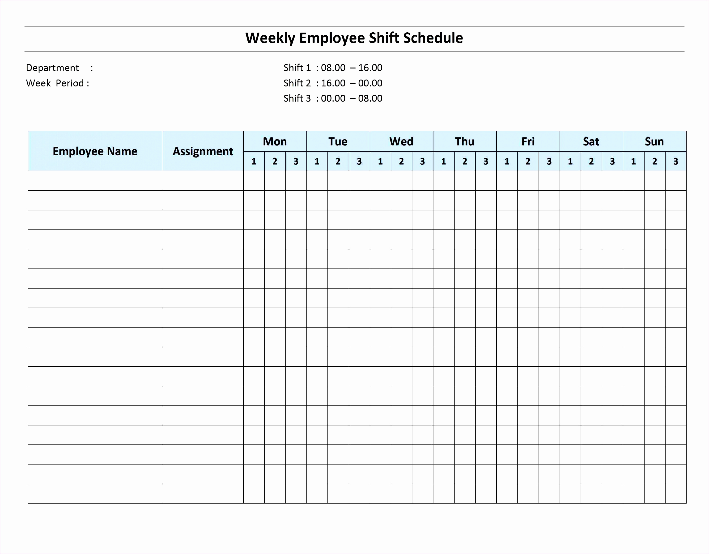 Template Shift Schedule Template – Example Templates inside 2 Week Work Schedule Templates