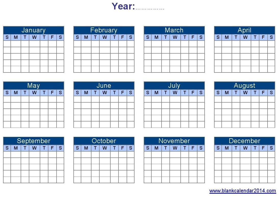 Templates-Of-Yearly-Calendars-Blank-Yearly-Calendar-Landscape inside Football Theme Blank Dates Calendar