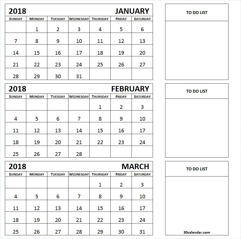 Three Month Printable Calendar 2019 | Printable Calendar 2019 throughout 3 Month Printable Calendar Template