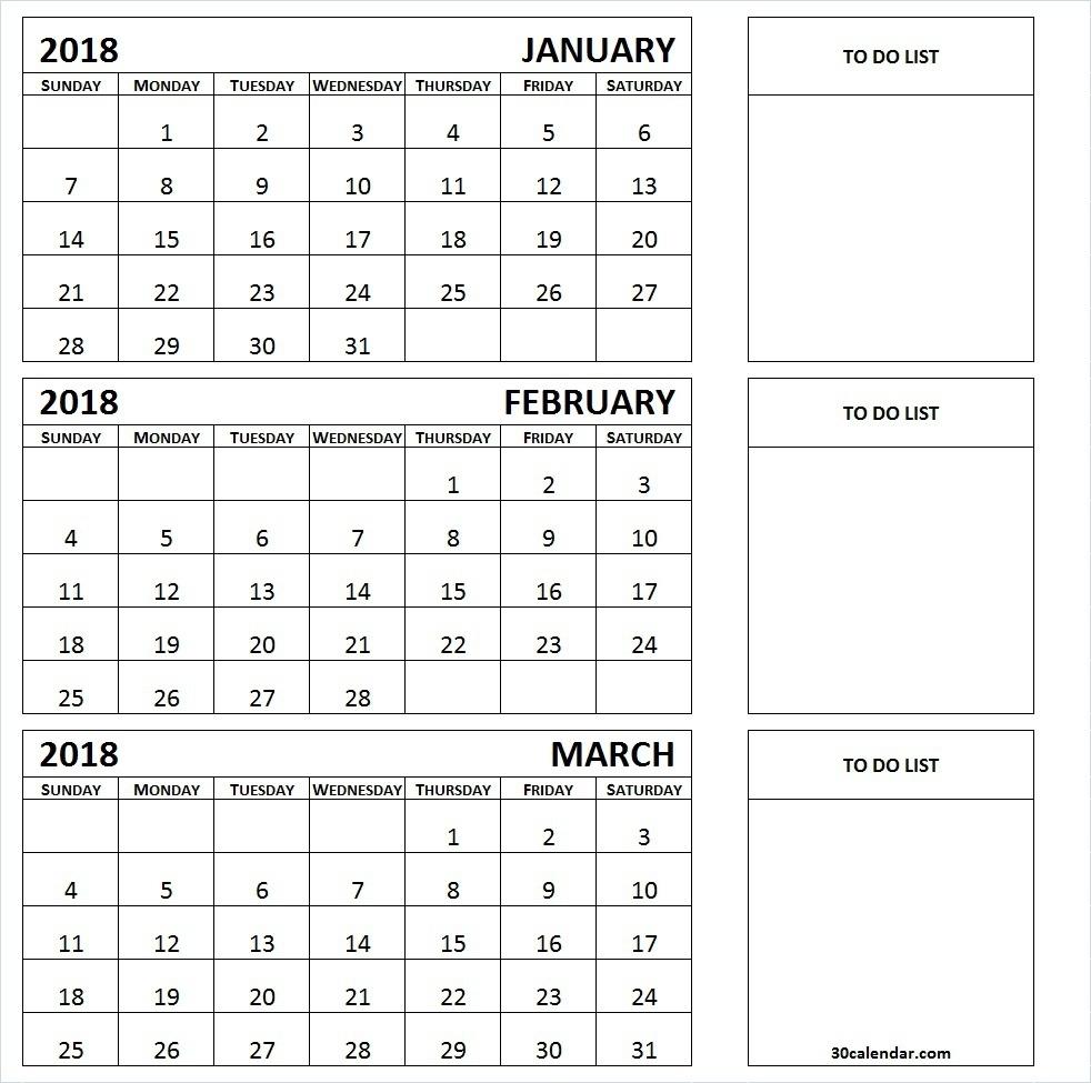 Three Month Printable Calendar 2019 | Printable Calendar 2019 within 3 Month Calendar Template Printable