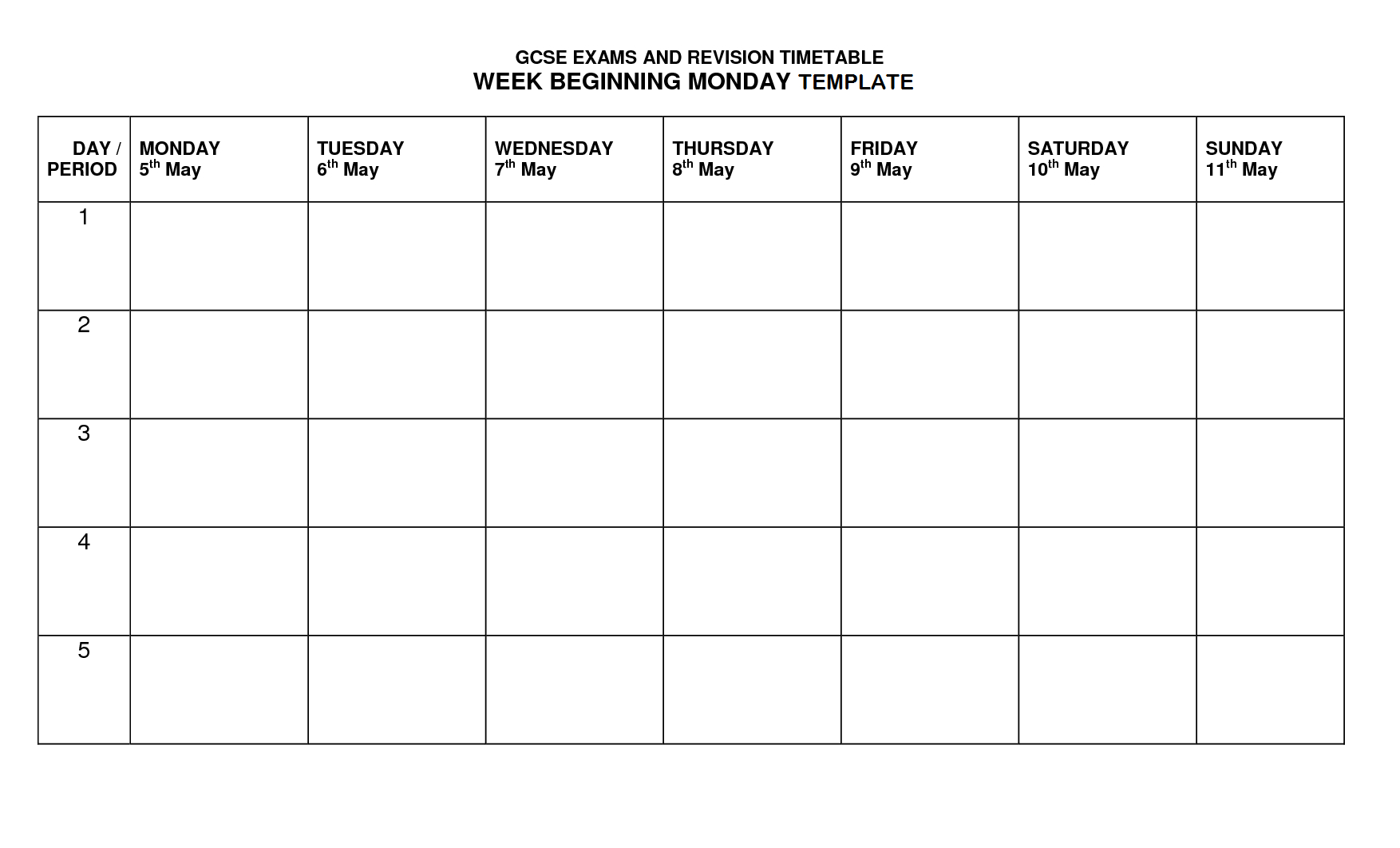 Timetable Template | Timetable Templates | Timetable Template intended for Monday To Friday Timetable Template