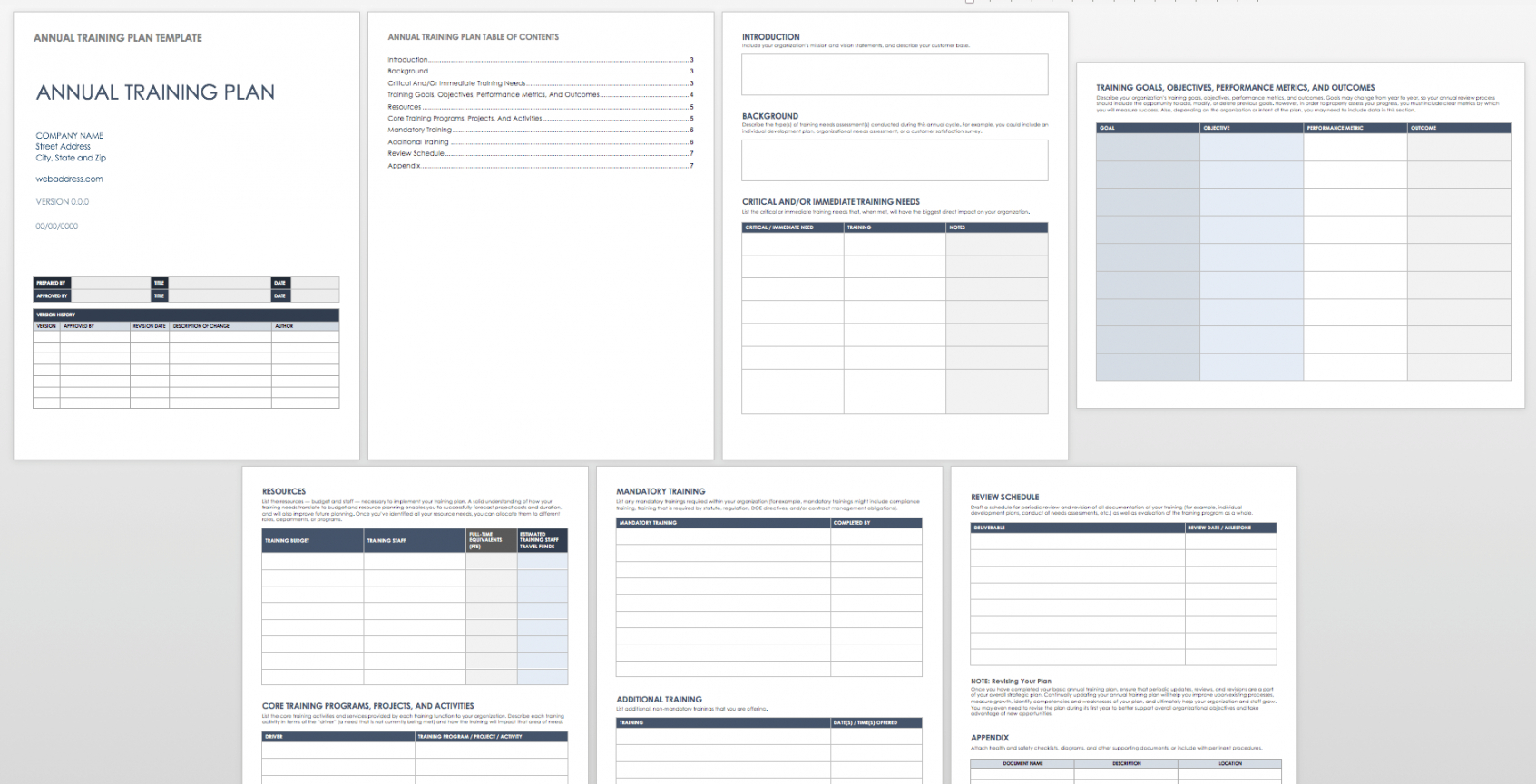 Training Plan Timeline Template for Free Printable Blank Training Plan Year