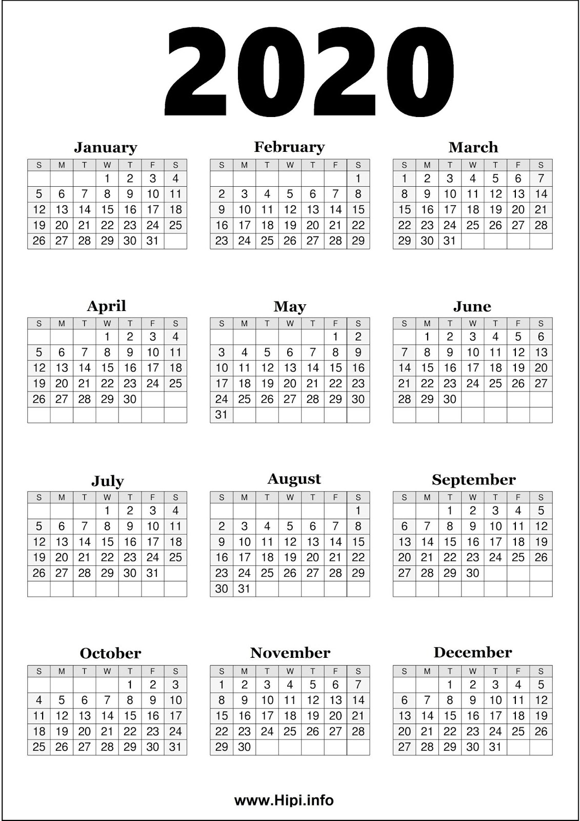 Twitter Headers / Facebook Covers / Wallpapers / Calendars: 2020 regarding 2020Free Printable Calendars Without Downloading