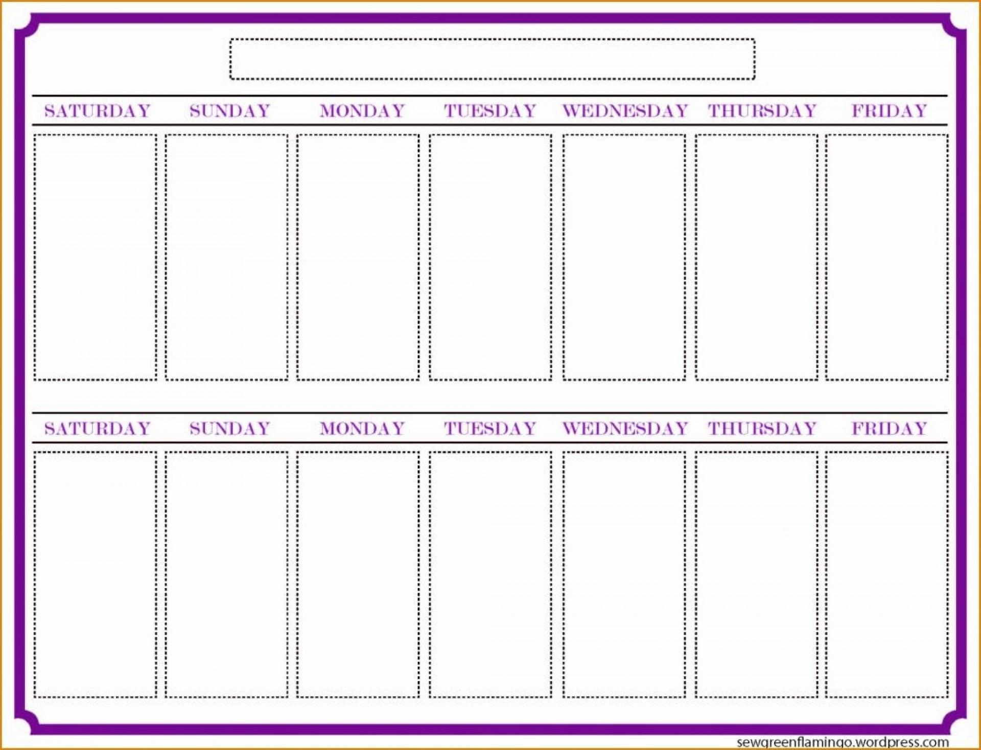 Two Week Alendar Printable Weeks Template Blank Weekly Free | Smorad intended for Two Week Blank Calendar Template