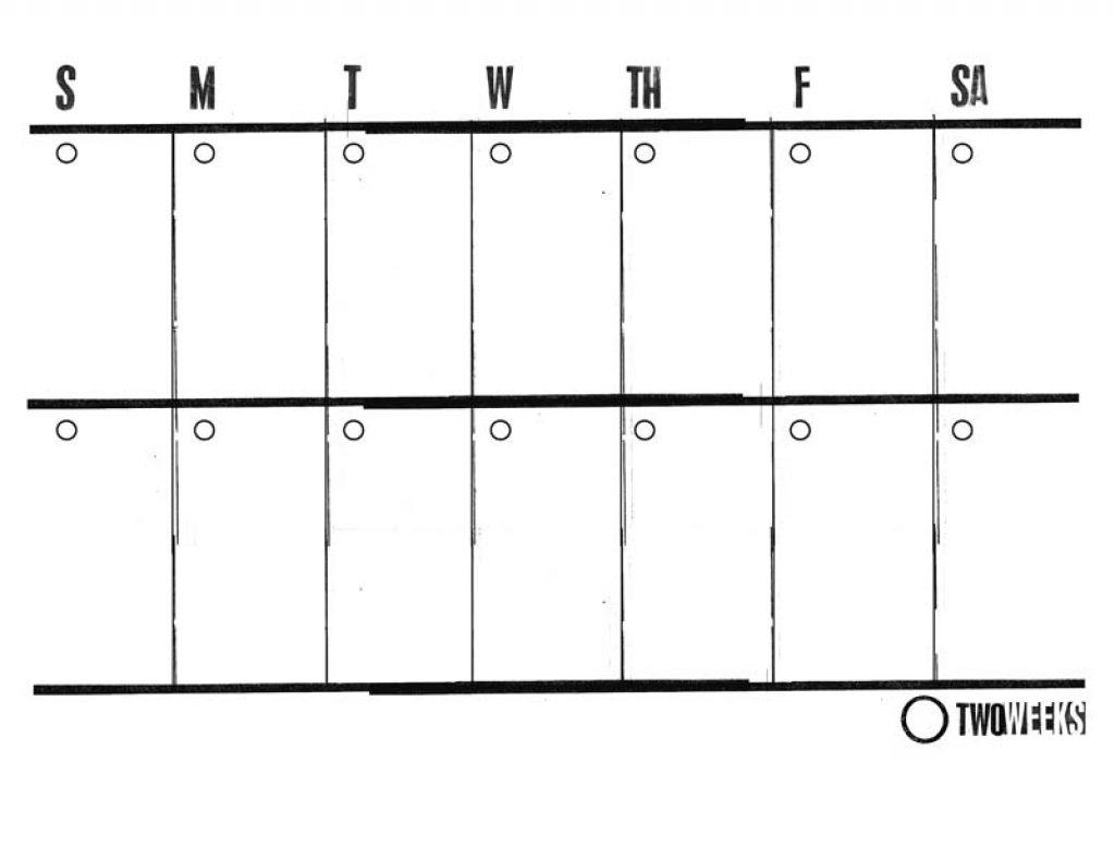 Two Week Blank Calendar Template | Template Calendar Printable for Two Week Blank Calendar Template