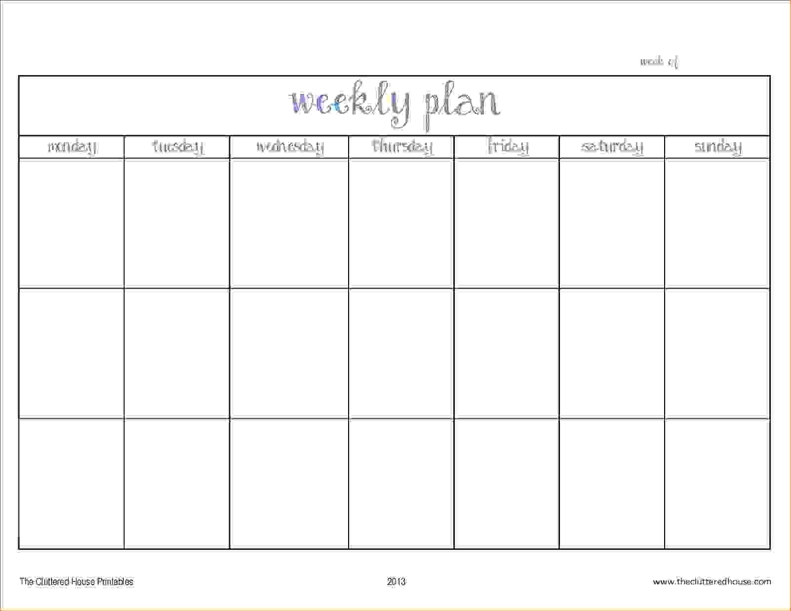Two Week Planner Template Look Ahead Schedule Excel Calendar Word in 2 Week Blank Calendar Template
