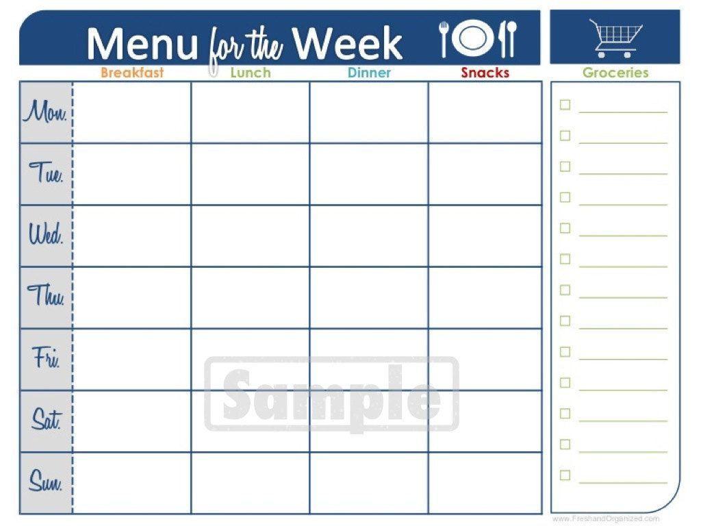 Two Week Printable Calendar | Blank Calendar | Meal Planner for Blank Two Week Schedule Template