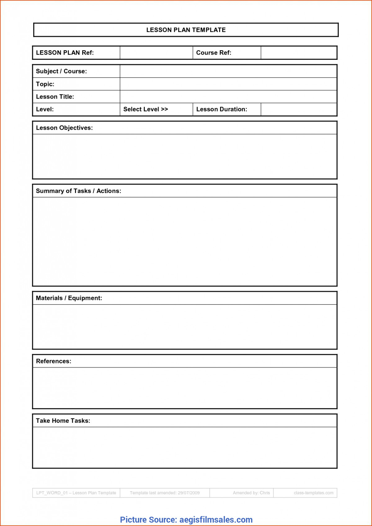 Typical Simple Blank Lesson Plan Template Basic Lesson Plan Template intended for Basic Lesson Plan Template Printable