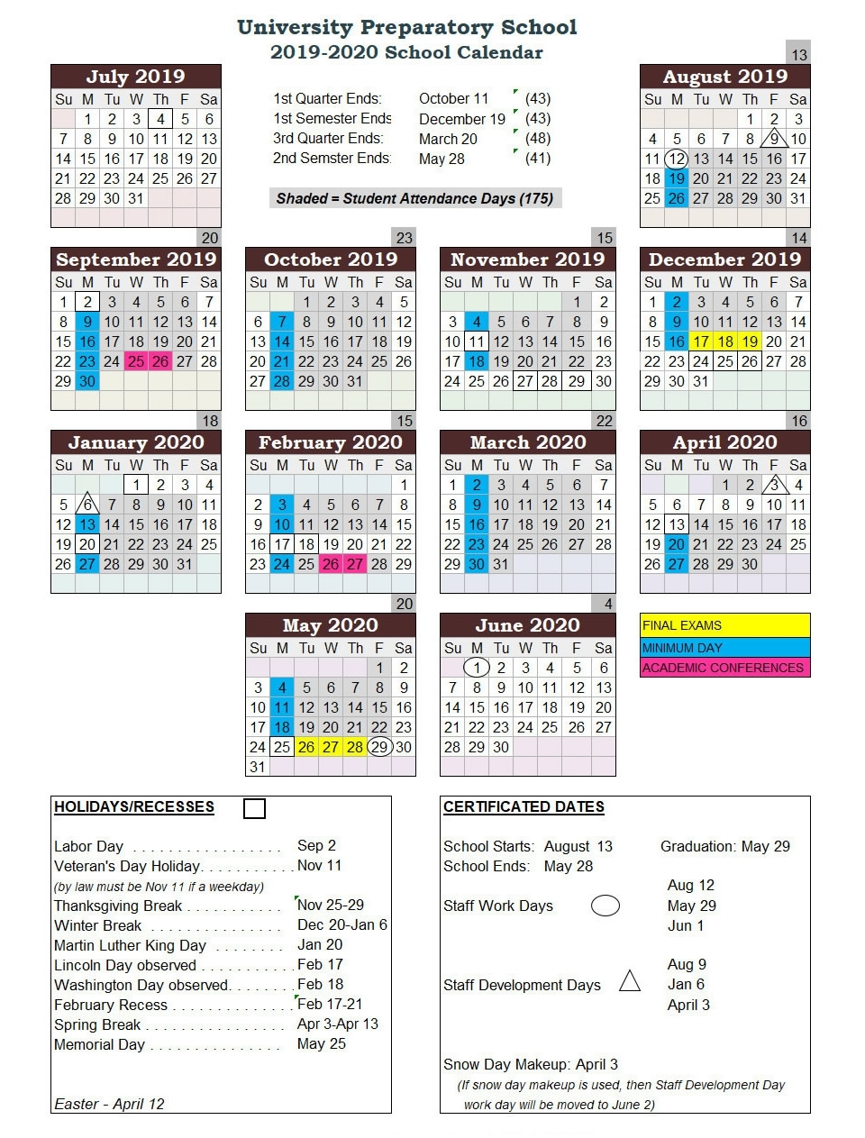 U Of M School Calendar 2020 | Calendar Design Ideas intended for U Of M Calendar 2019-2020 School Year