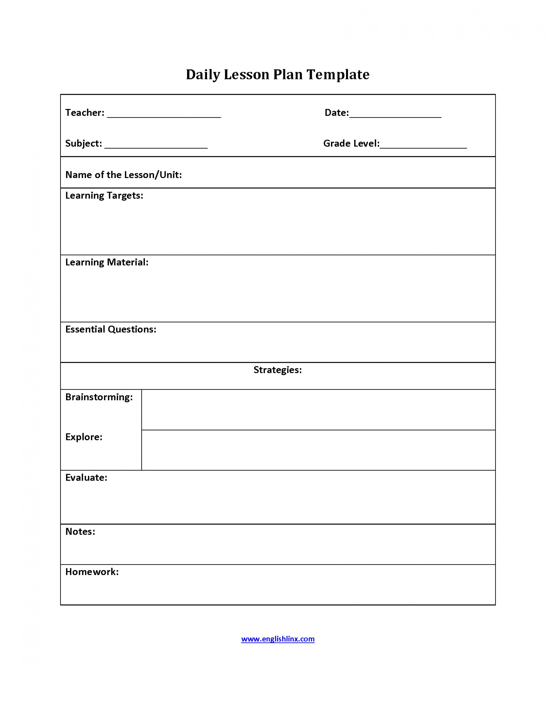 Unforgettable Simple Lesson Plan Template Templates Printable Doc with regard to Basic Lesson Plan Template Printable