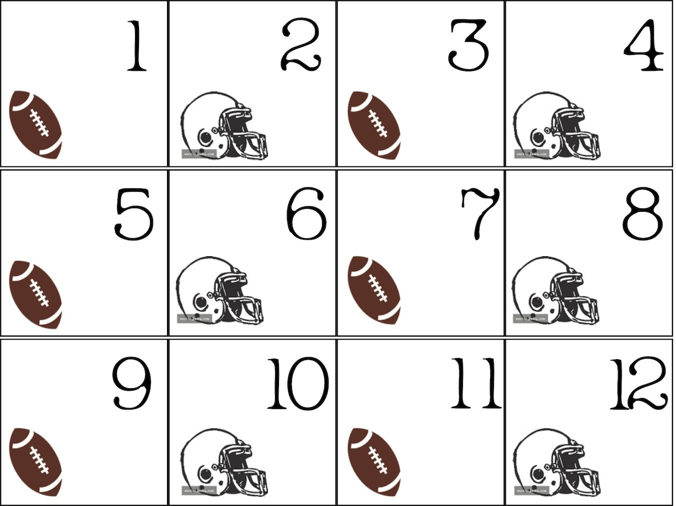 We Are All Special!: Calendar Numbers - Freebie | Homeschool throughout Football Theme Blank Dates Calendar