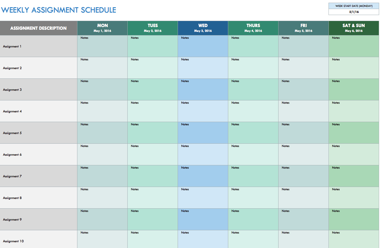 Week Calendar Template Excel Schedule Two | Smorad within Weekly Calendar Templates Excel