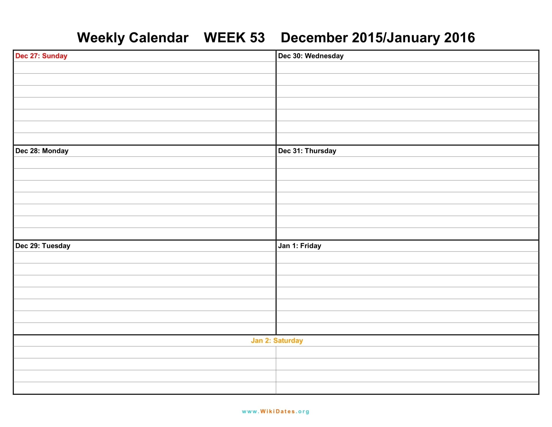 Week Schedule E Weekly For Pdf Version Schedules On One Page Agenda intended for 6 Week Work Schedule Template