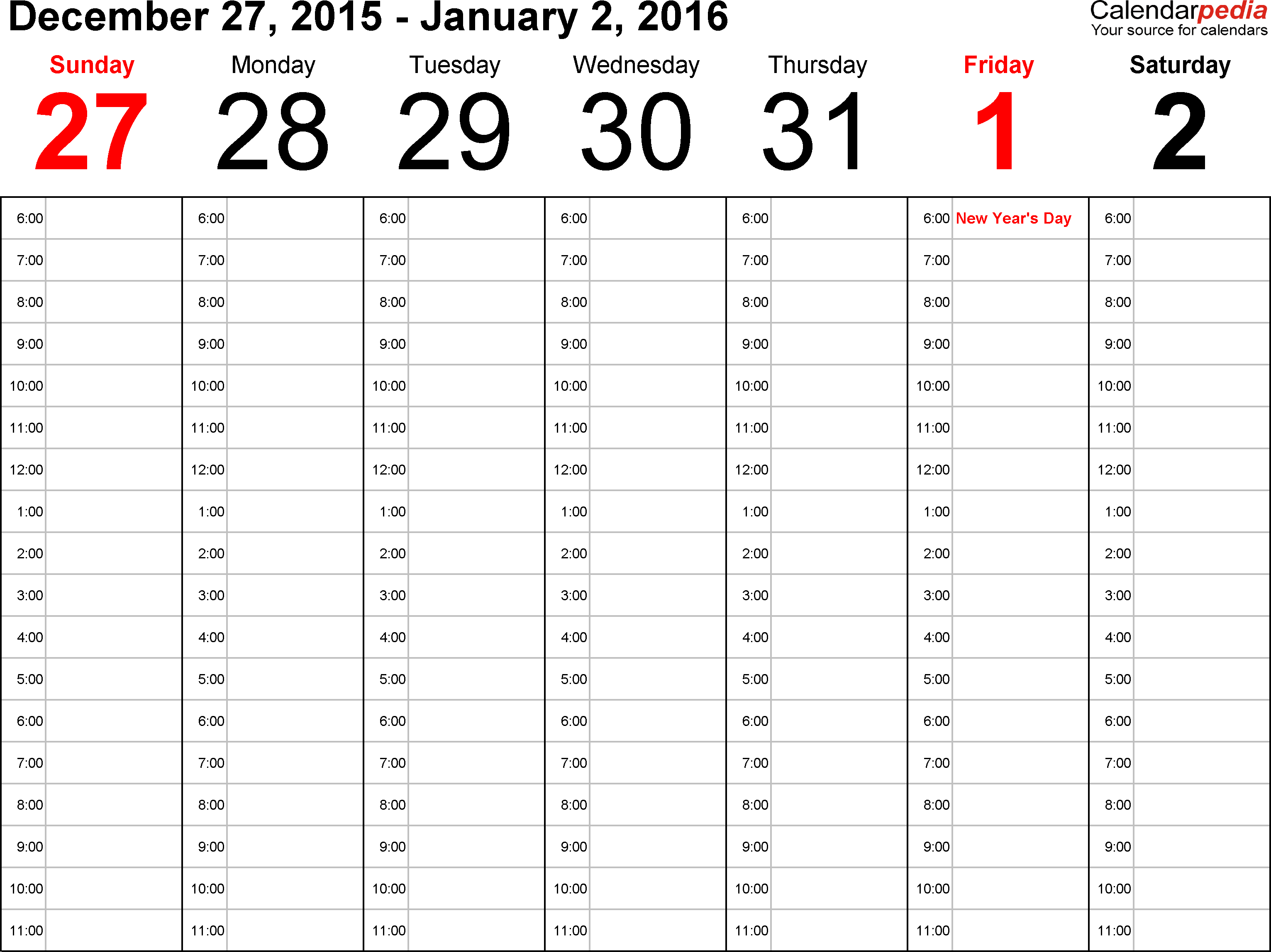 Weekly Calendar 2016 For Word - 12 Free Printable Templates pertaining to Blank Time And Date Calendar