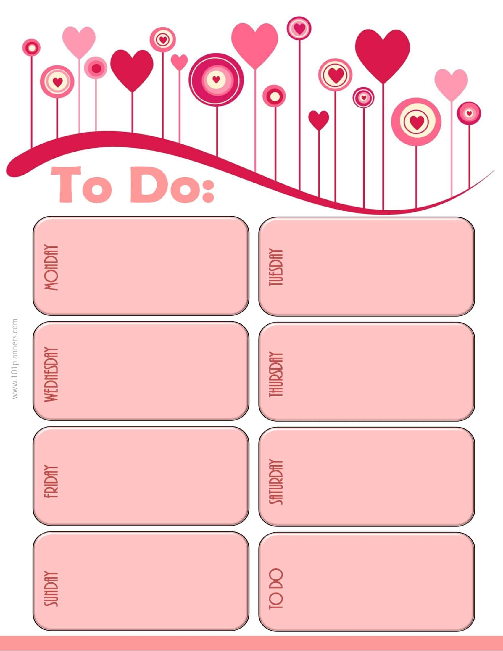 Weekly Calendar Maker | Create Free Custom Calendars within Cute Blank Day Calender Templates