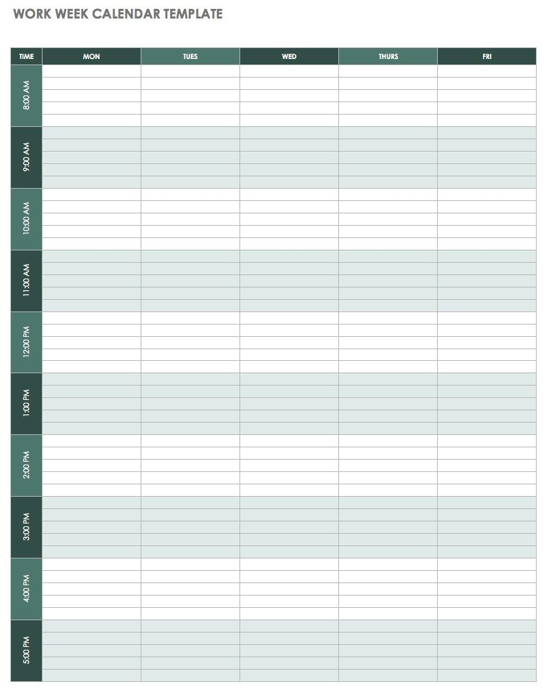 Weekly Calendar Template Excel | 2019 Calendar Template In One Pages in Weekly Calendar Templates Excel