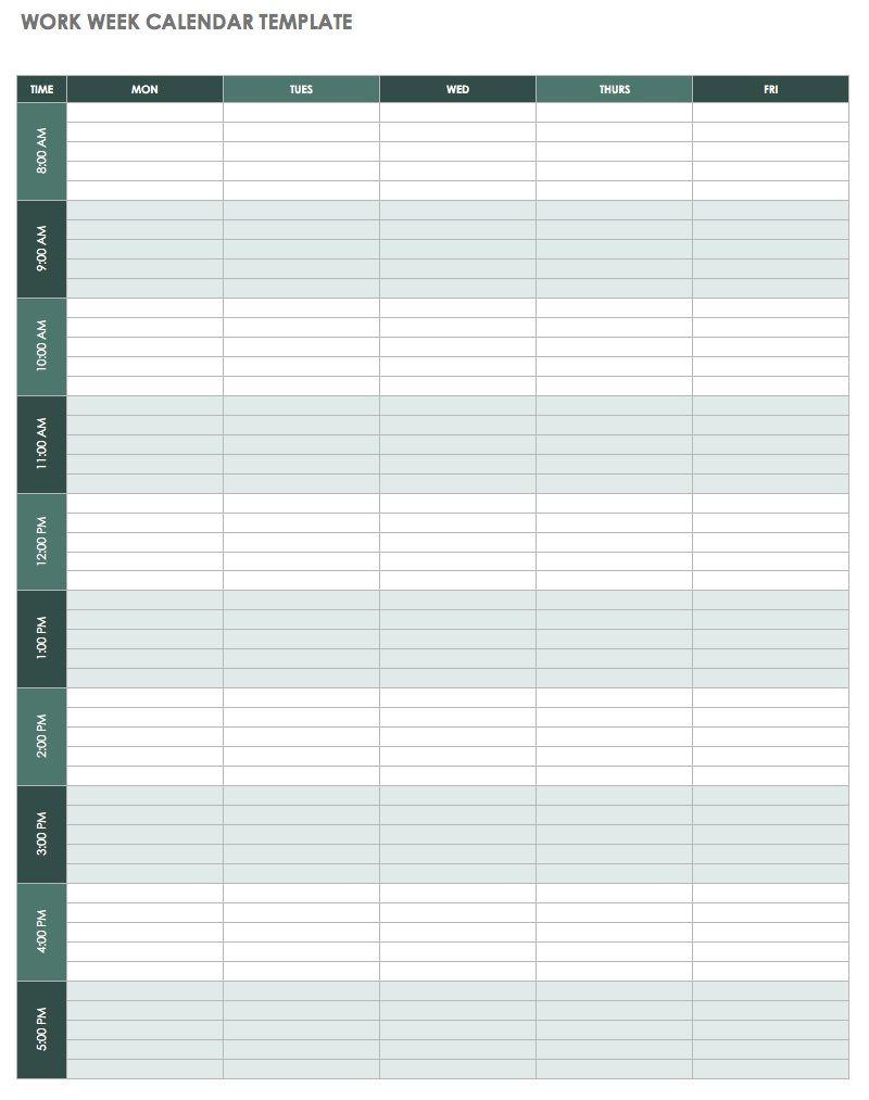 Weekly Calendar Template Excel | 2019 Calendar Template In One Pages regarding Editable Weekly Calendar Template