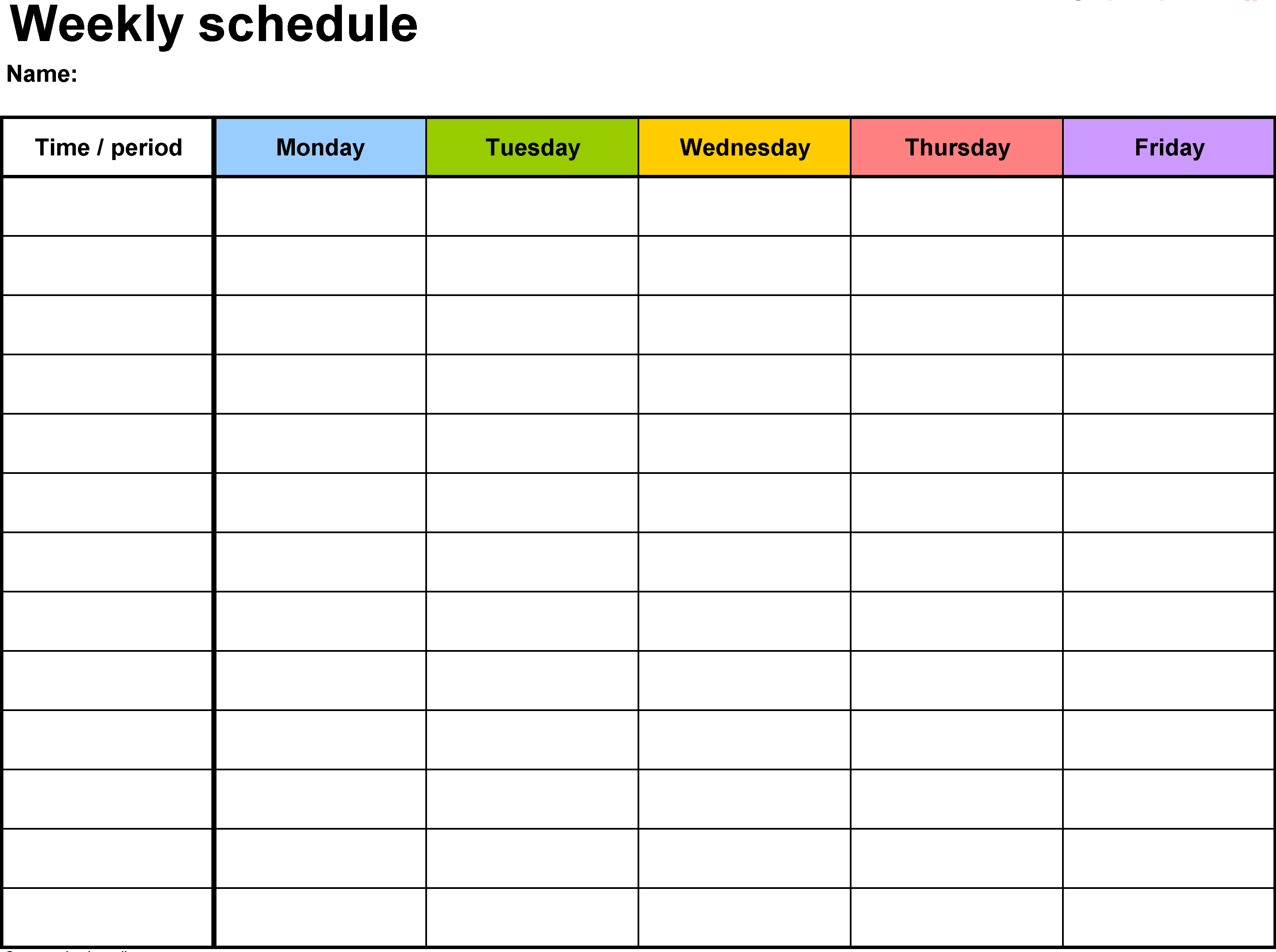 Weekly Calendar Template | Weekly Calendar Template - Word, Excel intended for Planning Calendar Template Excel