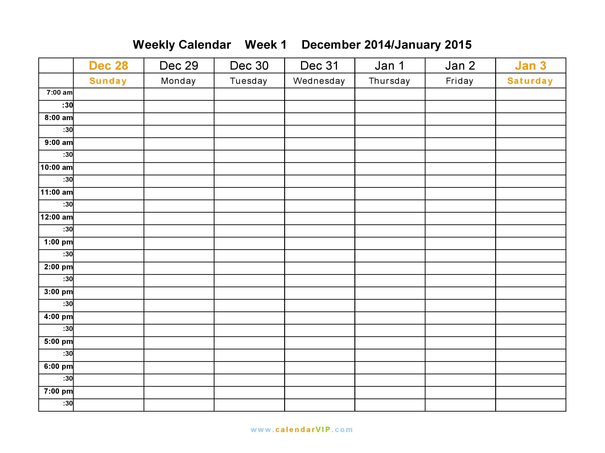 Weekly Calendar Templates Ee Microsoft Template For Word Appointment with regard to 12 Week Blank Calendar Printable