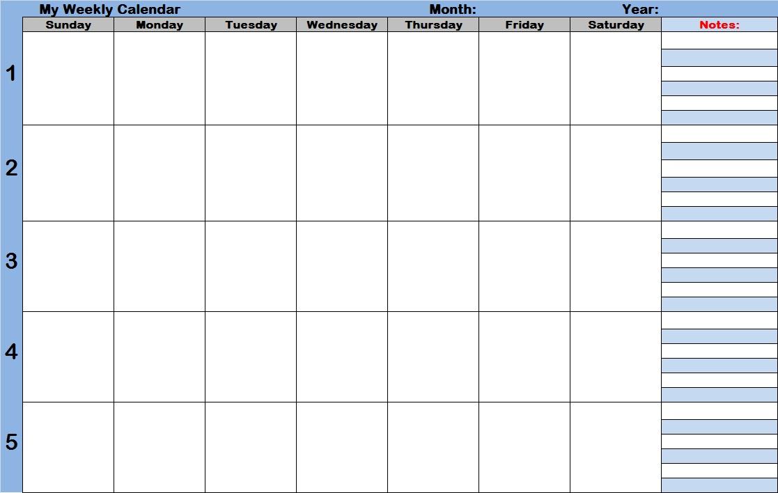Weekly Calendar With Time Slots   Printable 2017 Calendars in Weekly Schedule With Blank Time Slots