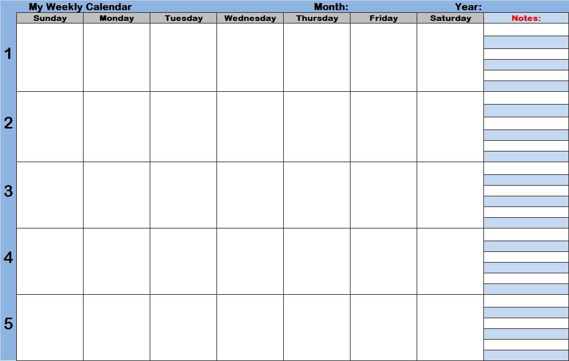 Weekly Calendar With Time Slots Template | Printable 2017 Calendars in Free Calendar With Time Slots Template