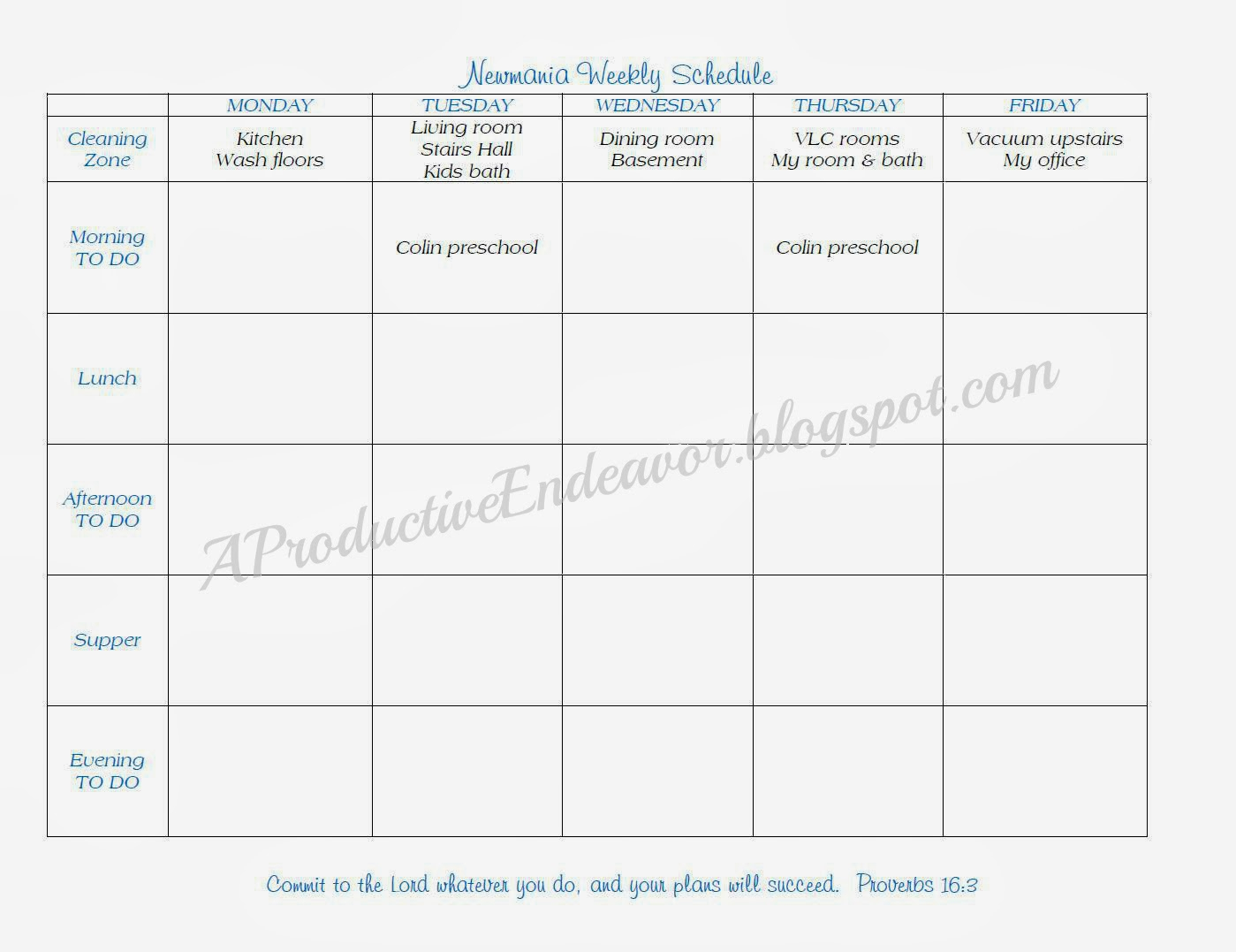 Weekly Schedule Template Monday Friday. Free Weekly Calendar with regard to Monday Through Friday Schedule Template