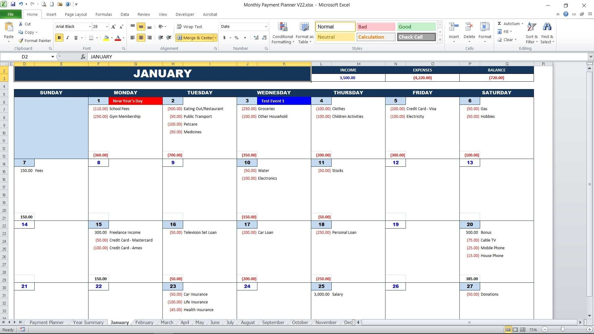 Well Done June Organizer 2019 Bills To Pay * Calendar Template Fillable with regard to Excel Calendar Template Bill Pay