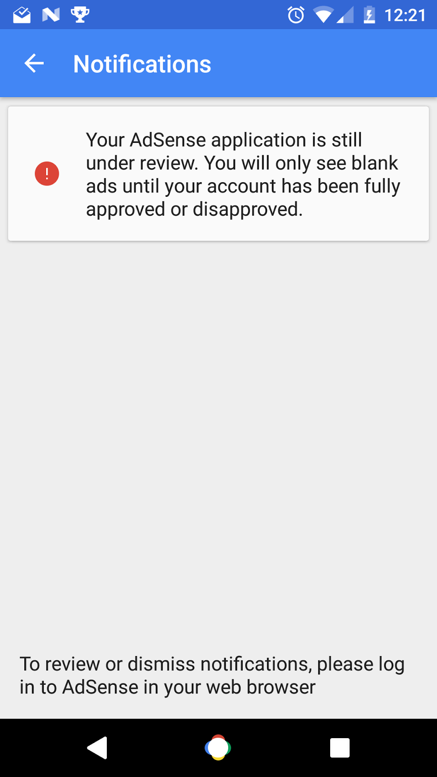 Why Is My Application Still Under Review? - Adsense Help pertaining to Blank My Account Information Logs