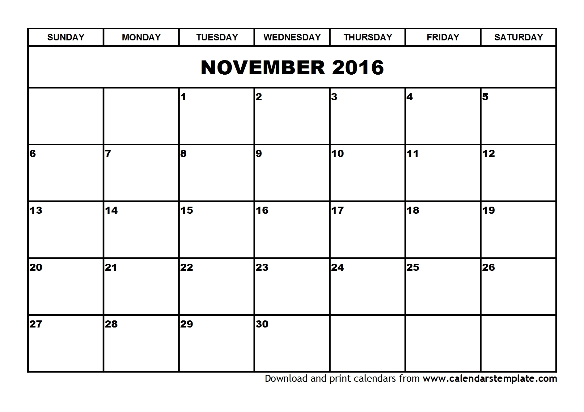 Word-2016-Monthly-Calendar-Blank-Pdf for Monthly Calendar Template Novb