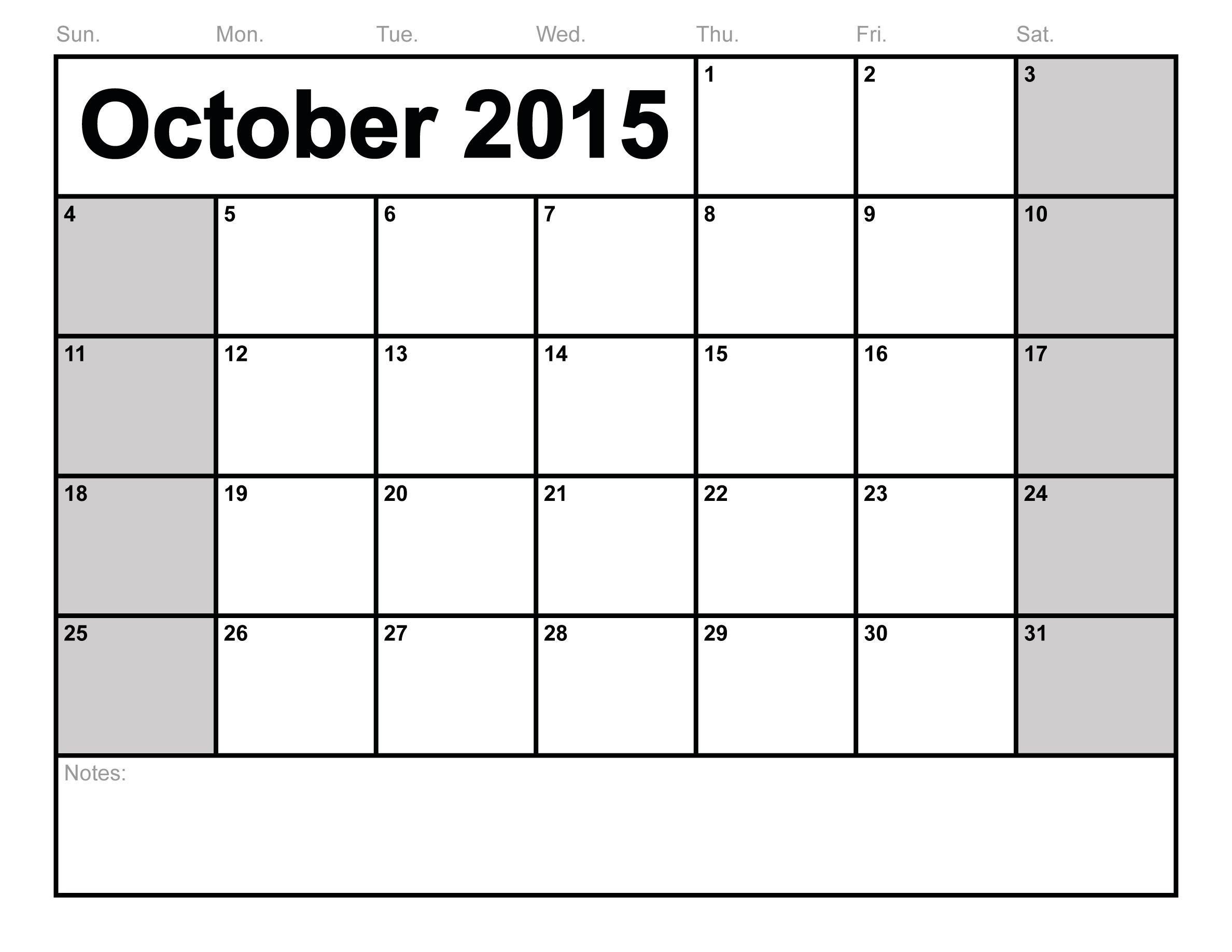 Word-Blank-Printable Calendar Templates within Editable 2015 Monthly Calendar Template
