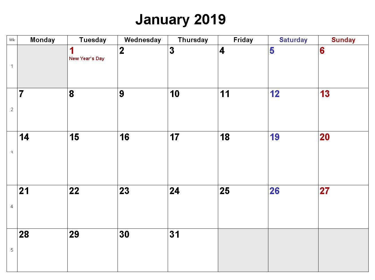 Word Calendar 2019 Template - Erha.yasamayolver within Vetex 2020 Word Calendar Download