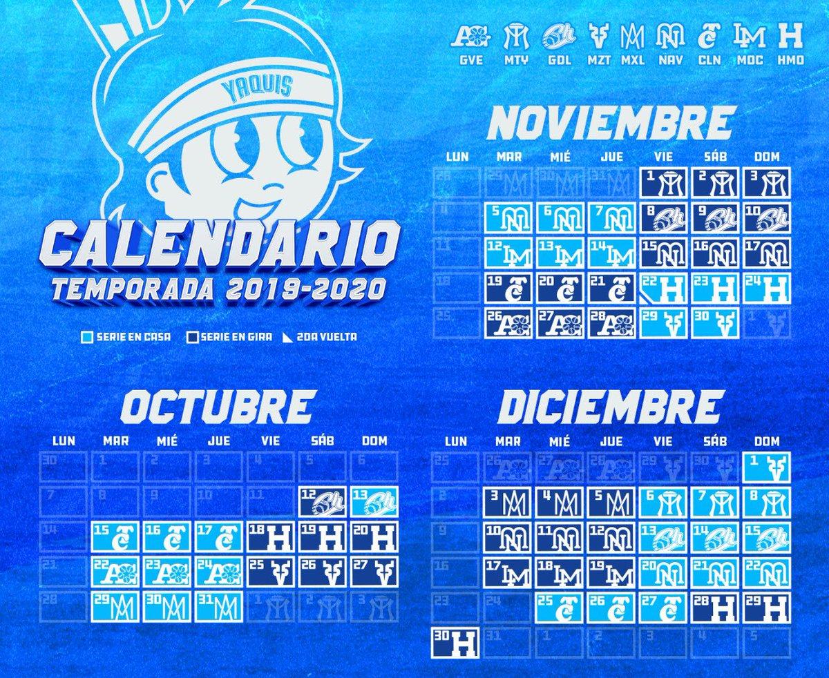"""Yaquis On Twitter: """"¡habemus Calendario! 📆🙌🏼 Temporada Caliente with Calendario Liga Mx 2019 2020"""