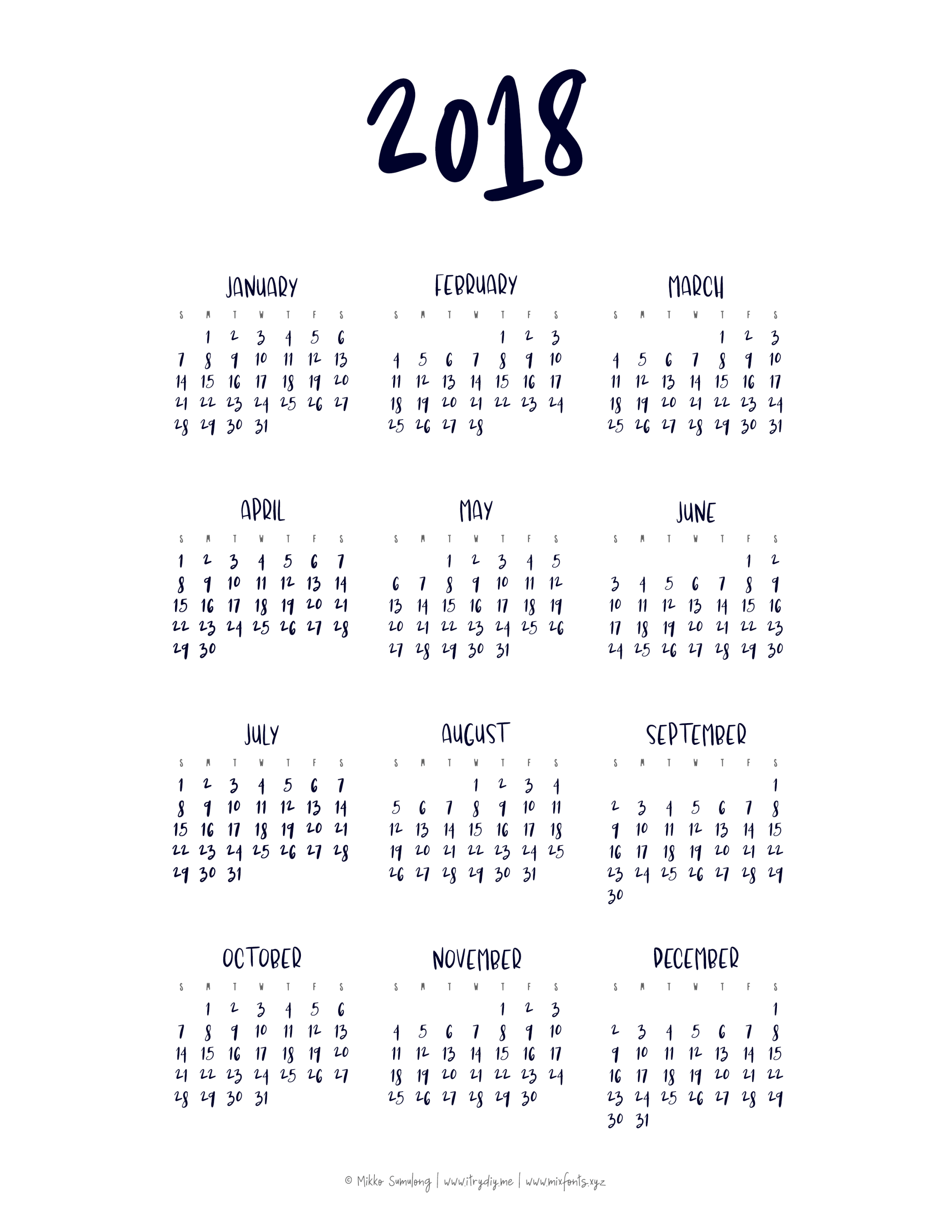 Year At A Glance Calendar | Templates & Printables | At A Glance in Blank Year At A Glance Calendar Template