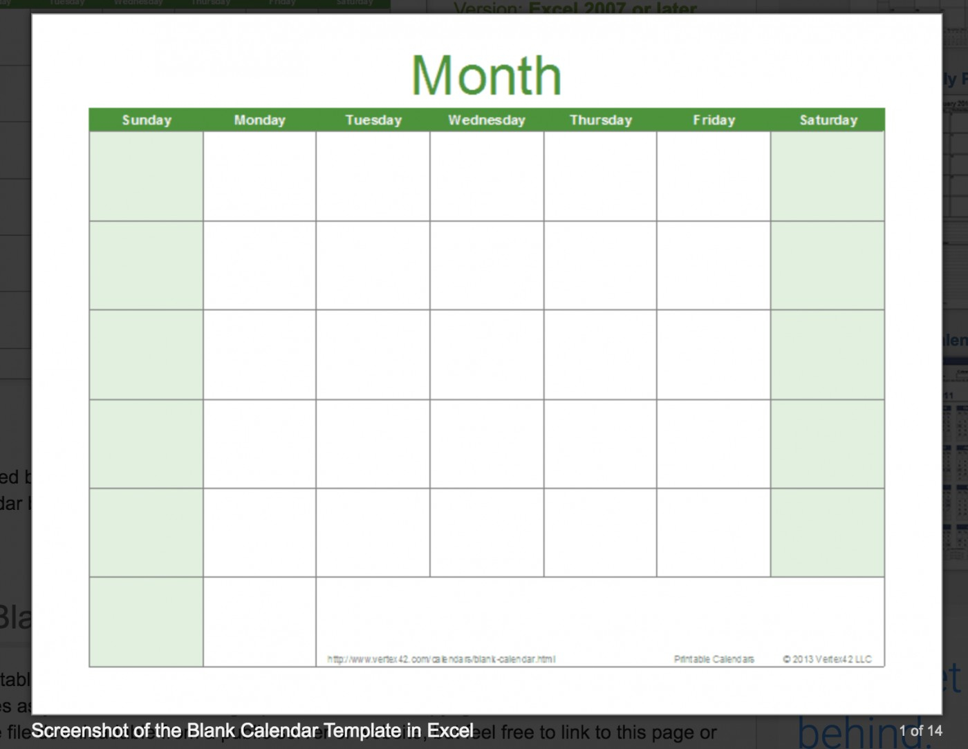 002 Template Ideas Free Excel Calendar Printable Incredible with regard to Vertex 2020 Calendars Monday Through Sunday
