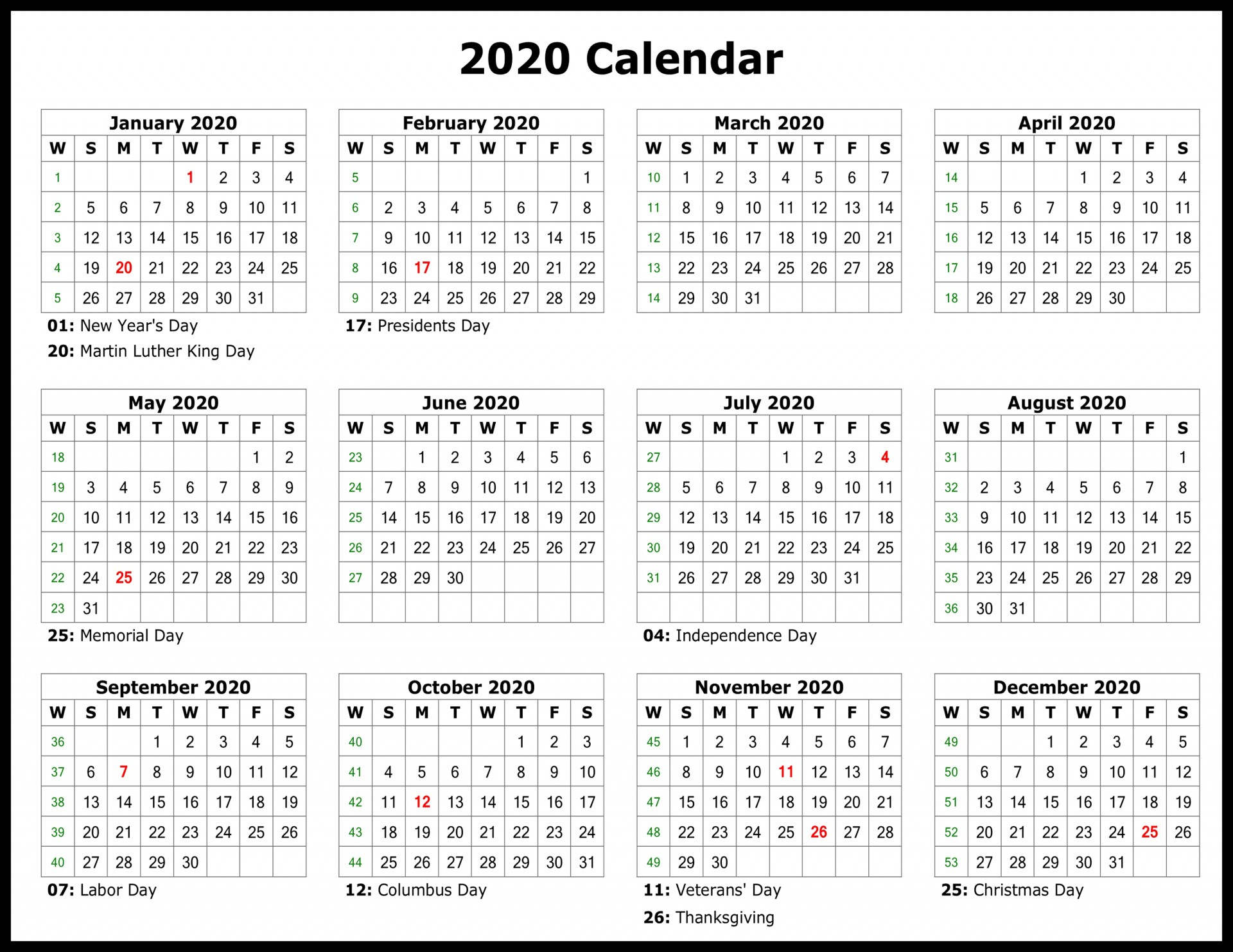 011 Template Ideas Free Yearly Calendar Formidable Excel in Calendar 2020 Ideas