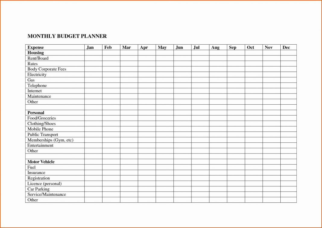 020 20Monthly Bills Spreadsheet Personal Budget Free for I Want A Monthly Spreadsheet I Can Use For Paying My Monthly Bills & Is Printable For My Use Only